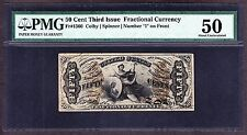 Us 50c Fractional Currency 3rd Issue Fr 1360 Pcgs 50 Ppq Au
