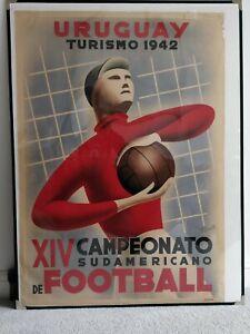 Original 1942 South American Football Championships Poster