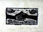 Magnificent Large Rufino Tamayo Signed Woodblock Print of Felicidades