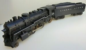 Louis Marx O Scale Steam locomotive  & Lionel Tender. Runs with Smoke