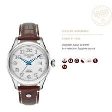 Roamer Men's Automatic Watch Silver Dial Brown Leather Strap 545660 41 16 05