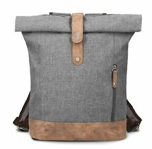 zwei Olli O24 Rucksack Umhängetasche Tasche Ice Grau Braun Damen Herren
