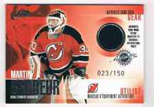 2003-04 MCDONALD'S PATCHES SILVER AUTHENTIC GAME-USED GEAR MARTIN BRODEUR JERSEY