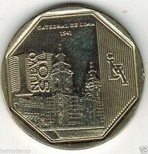 Peru 2014 Coin 1 Nuevo Sol Orgullo y Riquezas Catedral de Lima
