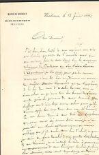 BORDEAUX BIBLITHEQUE DE LA VILLE COURRIER PERYERE ?? 1862