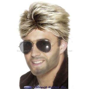 George Michael WHAM 80s Blonde Street Wig Glasses Make-up 1980 Fancy Dress lot
