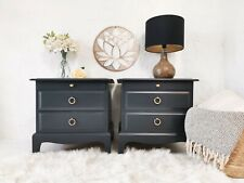 MADE TO ORDER - pair of Stag 3 drawers bedside tables - F&B Railings