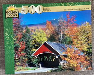 Vtg Golden Books 500 Piece Jigsaw Puzzle New Sealed Franconia Notch Bridge, NH