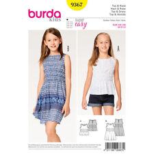 Burda Kids Super Easy SEWING PATTERN 9367 Girls Dress & Top Age 6-13