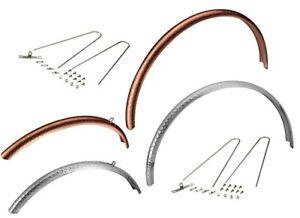 DIA COMPE ENE F-3 Road Bike Fenders, 650X32C-38C Tire, Silver or Copper anodized