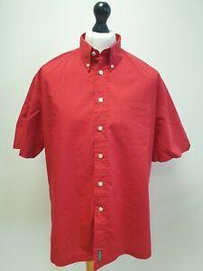 MENS BEN SHERMAN BRIGHT RED SHORT SLEEVED CASUAL SHIRT UK XL (4) EU 54-56