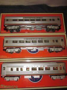 Lionel 6-25130 6-25131 6-25132 Santa Fe El Capitan Streamliner 3 Car Pass. Set