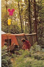 Disney World Postcard Fort Wilderness camping tent