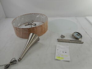 Kenroy Home 93013BS - Bulletin Pendant, 3 Light, Brushed Steel