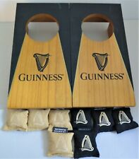 Guinness Beer Mini Table Top Cornhole Game Wood with Bean Bags