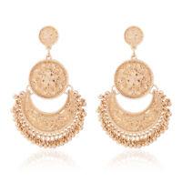 1 Pair Elegant Women Lady Crystal Rhinestone Ear Stud Fashion Earrings Chain New