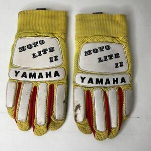 VTG Yamaha Moto Lite II 2 Racing Motocross Gloves Size L Motorcycle Dirt Bike