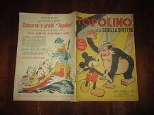 WALT DISNEY ALBO D'ORO 1°RISTAMPA N°39 GIUGNO 1951 TOPOLINO E IL GORILLA SPETTRO