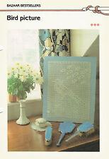 Crochet Pattern ~ BIRD PICTURE ~ Instructions
