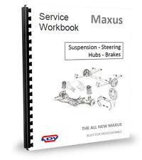 LDV Maxus Van Suspension, Steering, Hubs, Brakes, Service  Workshop Manual