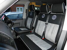 VW T5 ALCANTARA ITALIAN SUEDE AND LEATHER REPLACEMENT SEAT COVERS 2 CAPTAINS