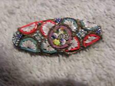 Antique Micro Mosaic Millefiori Pin Italy