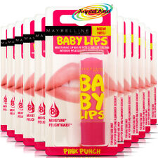 12x Maybelline Baby Lips Pink Punch Soft Lip Protection Moisture Balm Stick