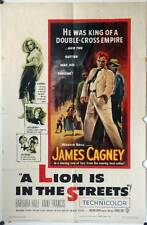 960 A LION IS IN THE STREETS 1sh original movie Poster 1953  James Cagney