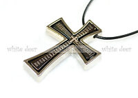Stainless Steel Double Detachable Cross Pendant Necklace Jewelry Spanish Bible