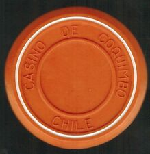 Chile Casino Chip- Casino de Coquimbo - valueless - roulette naranjo/blanco