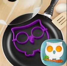 NEW Novelty Fred Funny Side Up Owl Egg Mould Breakfast Mold Silicone Art Frame