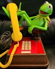 Vintage Jim Henson MUPPETS Kermit the Frog Touch Tone Telephone Landline 1983