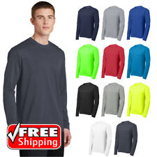 Sport-Tek Mens Long Sleeve T-Shirt Racer Mesh Performance Wicking Tee ST340LS