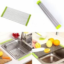 Drainer Kitchen Accessories Folding Holder Shelf Sink Storage Dish Drying Rack