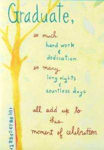Papyrus Graduation Card - So much hard work & dedication lead to celebration