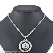 KUS 1 Halskette Ketten Rund Anhänger für Click Buttons Wechselschmuck 57.5cm
