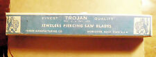 90 COUNT BOX NOS PARKER MANUFACTURING CO JEWELERS PIERCING SAW BLADES SIZE 6 J