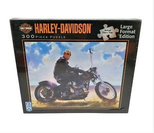 F.X. Schmid Harley Davidson Motorcycle Puzzle Tom Fritz Money On Gloss Black NEW