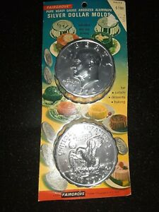 Silver Dollar Mold Fairgrove Kennedy 1972 Silver Dollar Cake Jello With Packagin