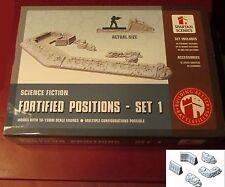 Spartan Scenics SGSS32 Fortified Positions Set #1 10/15mm Terrain Planetfall NIB