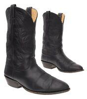 Vtg NOCONA Cowboy Boots 9.5 EEE Mens Black Leather Western Rodeo Boots Biker USA
