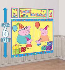 PEPPA PIG  PHOTO BACKDROP Happy Birthday Party scene setter wall decor George