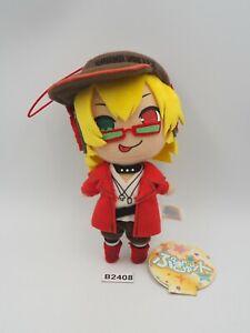 "Pop'n Music B2408 Eikoh Plush 6"" Mascot Strap Pugyutto TAG Toy Doll Japan"