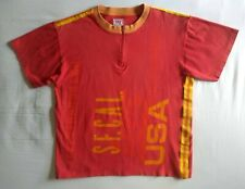 LEVI'S CYCLING JERSEY T-SHIRT S Vintage Made in Italy Cotton Shirt Levi Strauss