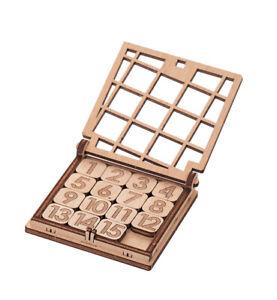 Pocket Game - Fifteen Bois Kit Jeu Quinze 15 IN Bois 10027 Mr.Playwood