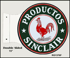 Retro Productos Sinclair Service Station Double Sided Flange Sign