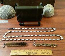 Vintage German Rifle Cleaning Kit with Metal Tin - Marked (Rg F Gew. Wbc 10/62)