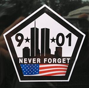 "Remember Never Forget 9 11 Memorial Sticker3.5"" x 3.5"" World Trade Center"