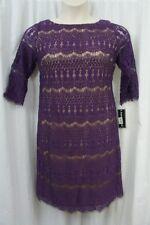 Jessica Howard Petite Dress Sz 14P Aubergine Purple Lace Business Dinner dress