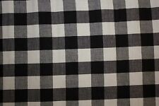 Gingham Poplin Print #7 Cotton Lycra Spandex Stretch Woven Apparel Fabric BTY